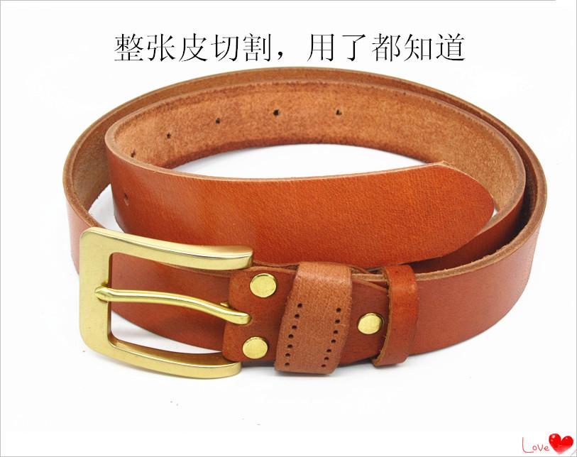 全体の皮のカットの男性の頭の層の牛革の純銅の針はベルトの労働保険電工のズボンのベルトの中で高齢者の手工芸のベルトを掛けます。