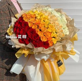 哈尔滨鲜花同城速递配送33朵66朵99朵红粉白香槟玫瑰花束同城花店