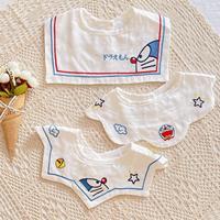 查看韩版ins夏季薄款口水巾360度可旋转婴儿纯棉纱布小围嘴宝宝防吐奶价格