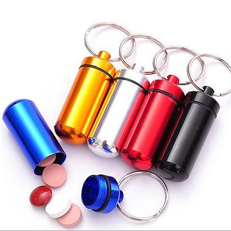 户外旅行要瓶铝合金钥匙扣挂瓶迷你防水小要罐急救要丸瓶密封罐