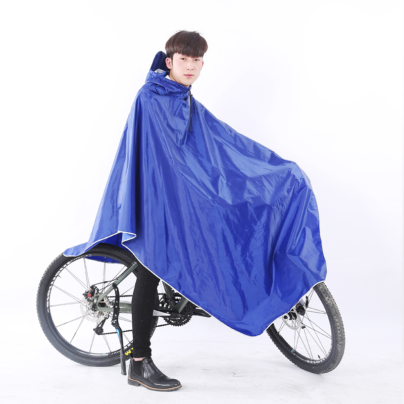 Raincoat long full body electric car poncho thickened waterproof bicycle single adult men and women protective poncho