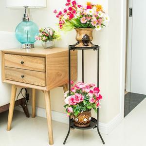 【住宅家具】歐式雙層鐵藝花架客廳陽臺室內花盆架簡約綠蘿花幾