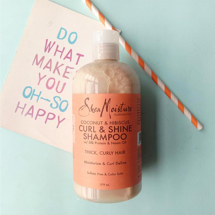 现货美国Shea Moisture椰子芙蓉防干燥防掉发孕妇可用洗发水379ML
