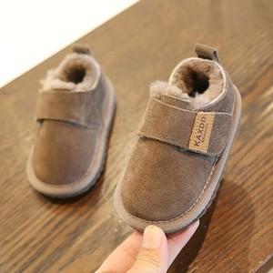 小童加厚雪地靴1-3岁2男童鞋冬季加绒女宝宝鞋子婴儿保暖软底棉鞋
