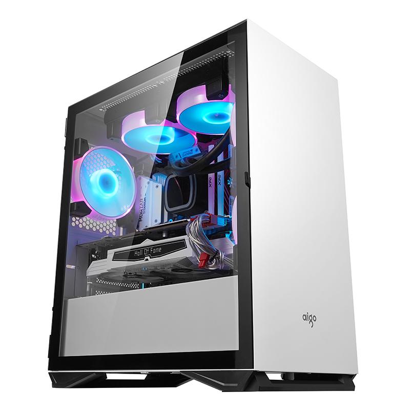 爱国者YOGO M2机箱 matx侧透防尘静音游戏水冷迷你台式电脑小机箱