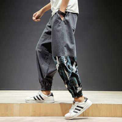 棉麻哈伦裤灯笼裤宽松,A26-P60