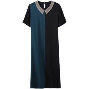 重磅2021夏新款印花高端大牌连衣裙