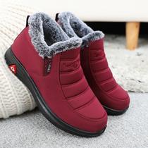 红色婚鞋跳舞鞋妈妈鞋单鞋女鞋民族风绣花鞋断码捡漏老北京布鞋