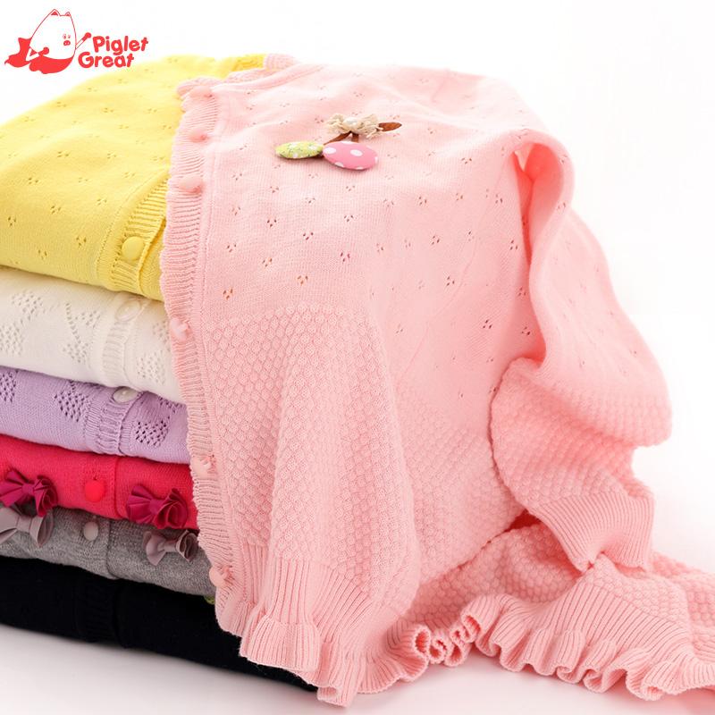 兒童毛衣開衫精梳棉寶寶長袖線衫 2016秋新中小女 毛衣針織衫
