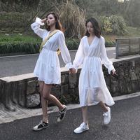 2021新款 夏季雪纺连衣裙女闺蜜装中长款小香风显瘦打底裙子气质