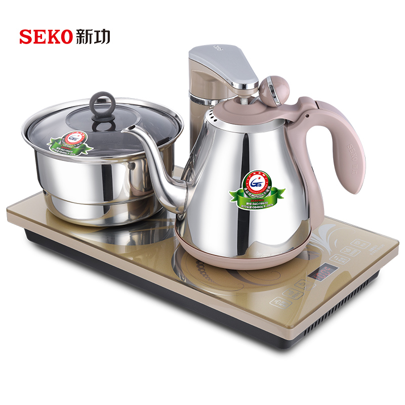 Seko/新功 G6全自动上水电热水壶套装家用智能恒温电水烧水壶茶炉