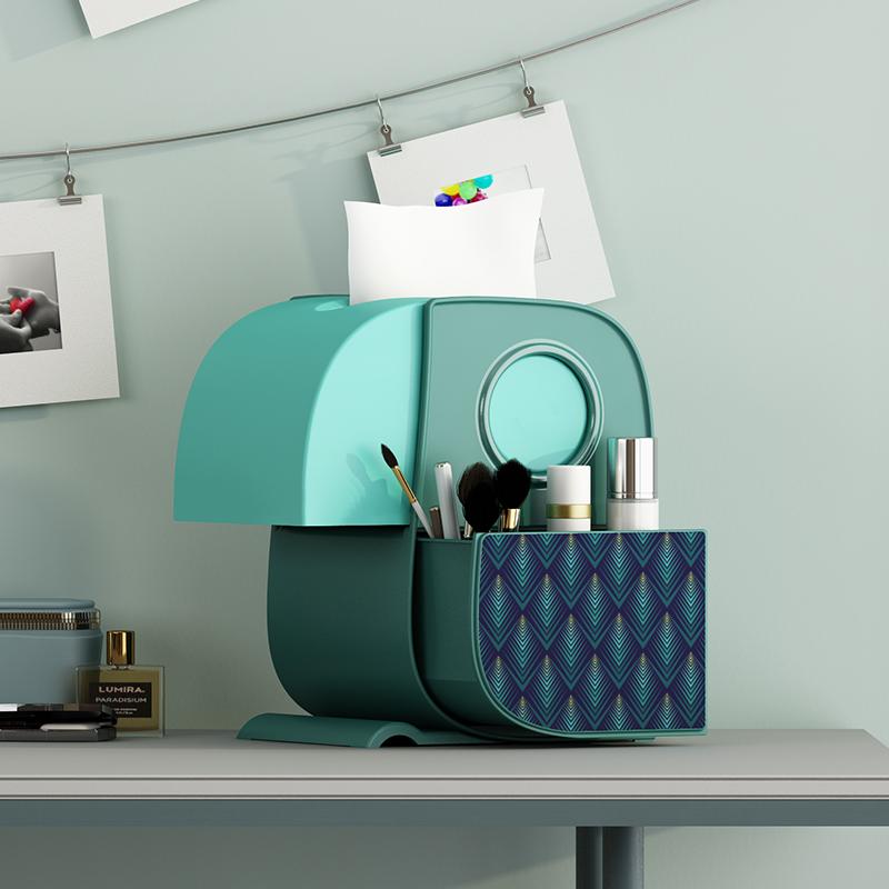 创意抽纸巾盒客厅家用可爱收纳卧室简约家居茶几简约多功能餐巾筒