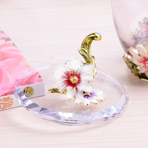 Creative Crystal glass cover Enamel color cup cover water cup lid creative rose Custom heat Preservation Dustproof Universal Cup cover