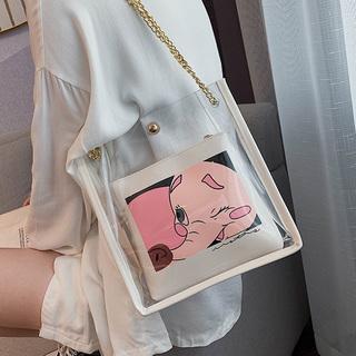 透明包包女2019夏季新款潮韩版百搭斜挎包单肩大包包大容量托特包