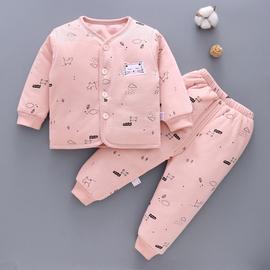 宝宝棉衣秋冬季新生儿衣服0-1岁3初生儿加厚保暖冬装婴儿夹棉套装