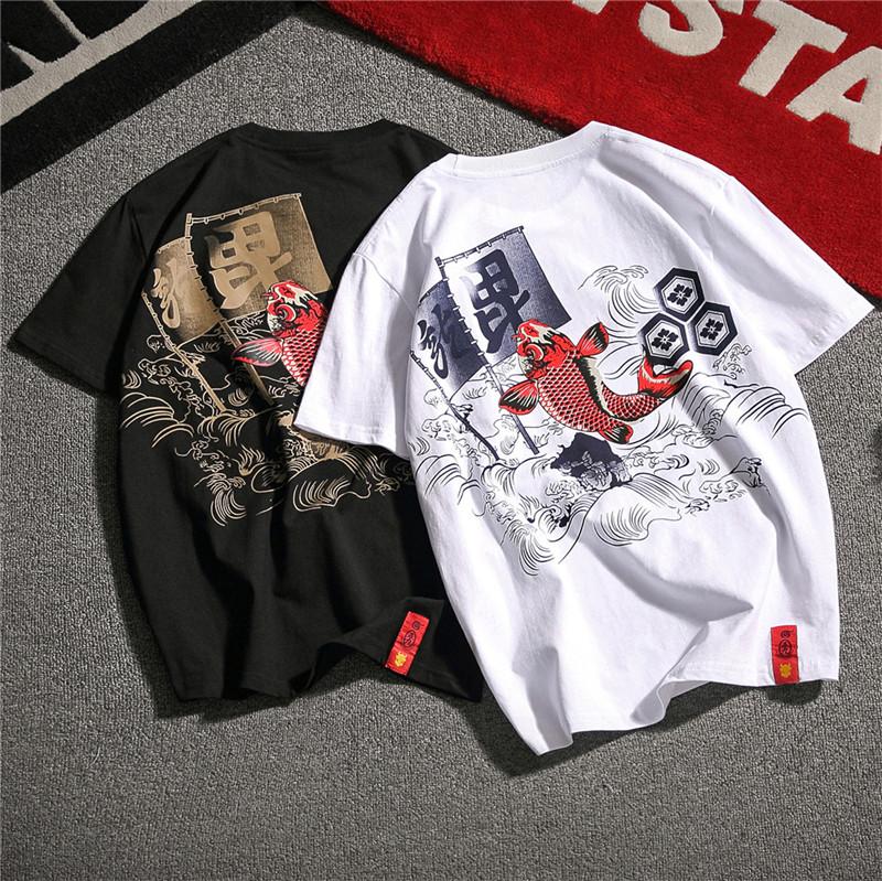 22夏装中国风韩版潮流男装短袖半截袖体恤加大码 日系T恤T13-P35