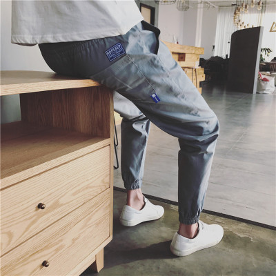 12休闲裤加大码黑男士长裤子修身韩版宽松裤子9178-P40