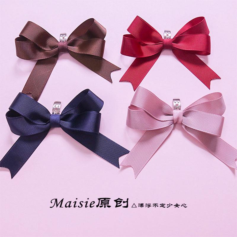 三对包邮lolita鞋夹Maisie原创蝴蝶结鞋扣宝石手作洛丽塔多色可选