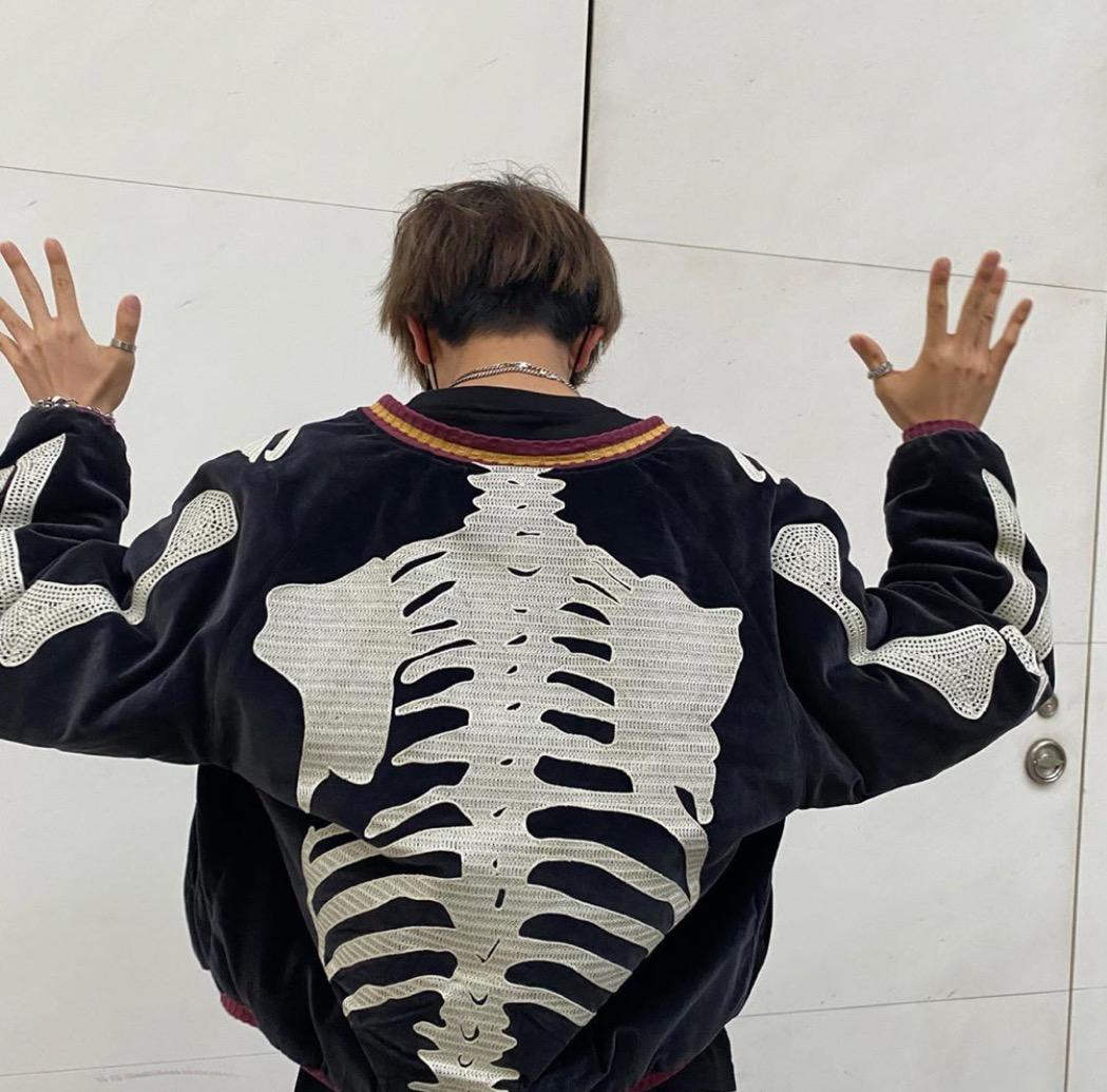 Kapital Hirata Hehong 20aw bone rib frame embroidered velvet velvet jacket