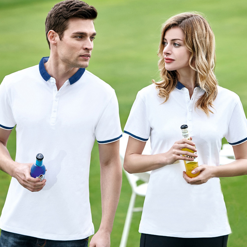 Ofandi Polo high end Polo Shirt Custom Lapel short sleeve T-shirt silk cotton Lycra work clothes work clothes F10