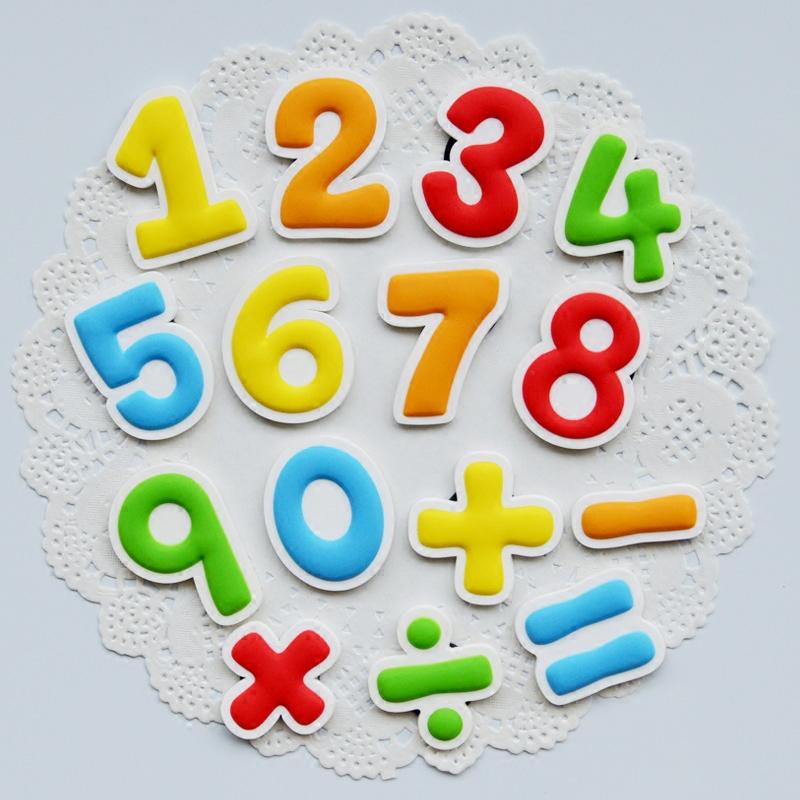 数字冰箱贴磁贴儿童冰箱磁性贴早教黑板白板磁性贴教学磁铁磁扣磁