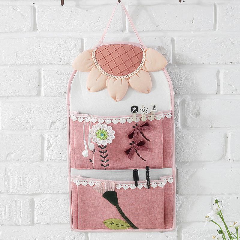 布艺收纳挂袋大号宿舍门后墙壁收纳袋婴儿床头边储物卫生间墙挂式