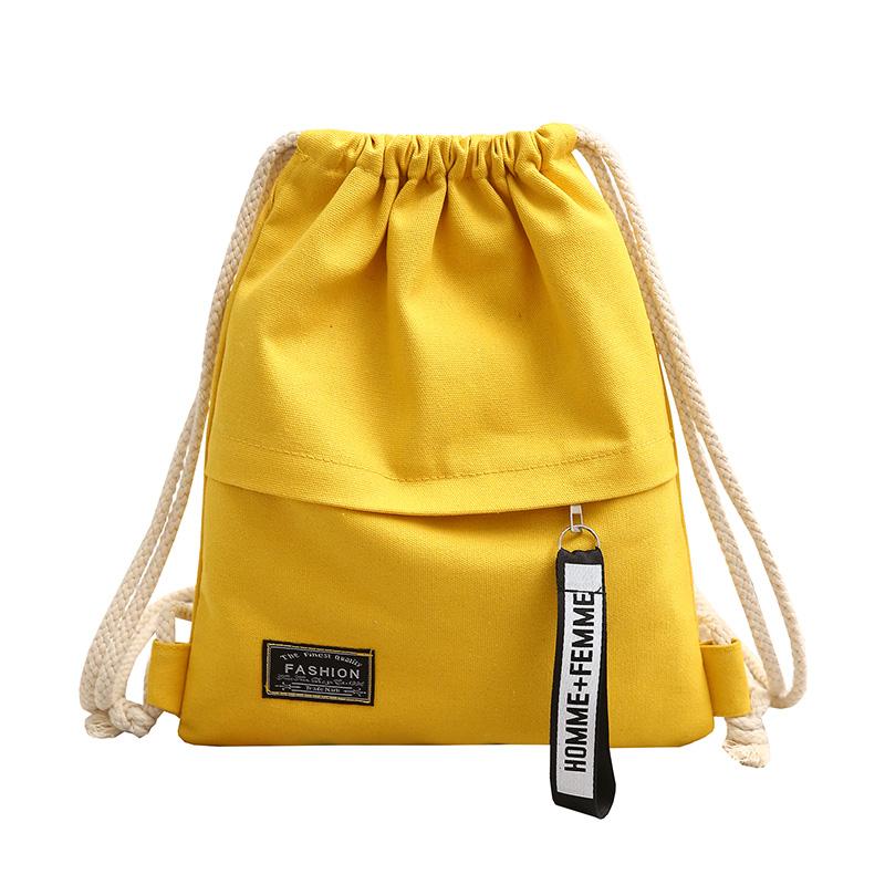 束口袋抽绳双肩包男女小学生书包轻便运动帆布背包布袋补习补课包