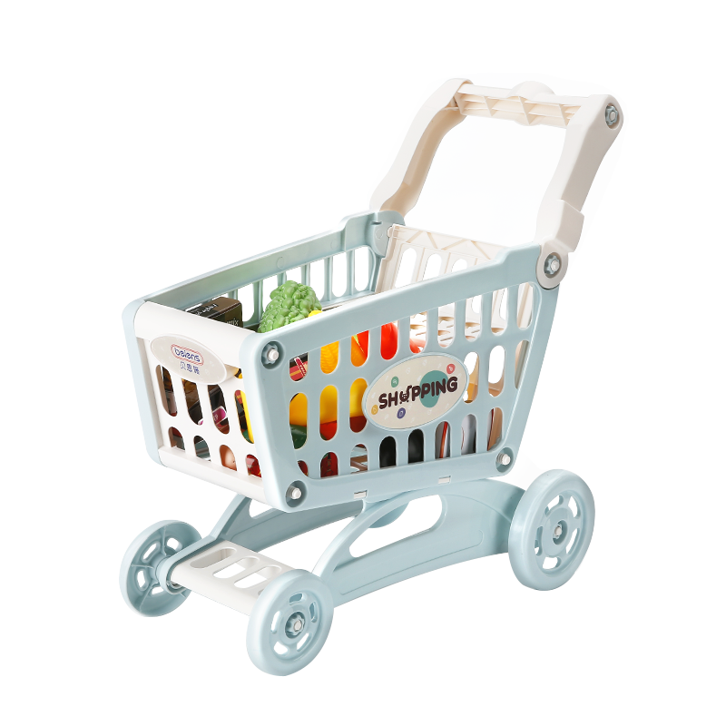 Beienshi children's shopping cart toy girl's kitchen supermarket simulation trolley baby 2-3 years old
