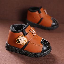 儿童棉鞋2020新款冬 宝宝加绒加厚棉鞋女1-3岁男童休闲雪地靴短靴图片