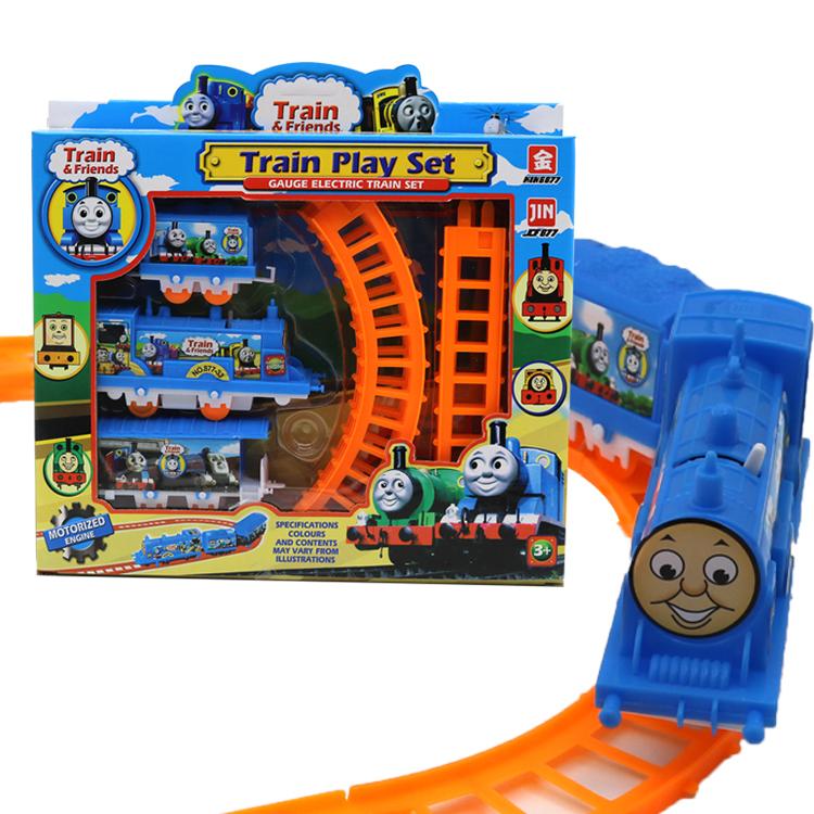 卡通電動托馬絲軌道小火車模擬火車模型套裝兒童益智玩具廠家直銷