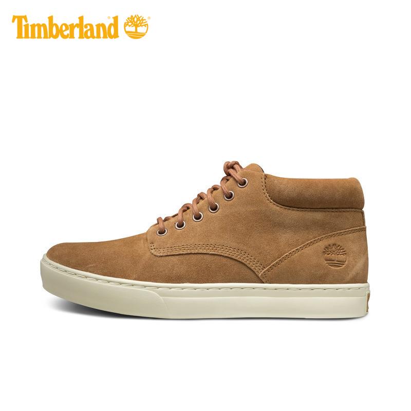 Timberland/添柏岚男鞋18春夏新款皮革中帮休闲板鞋|A1LIF