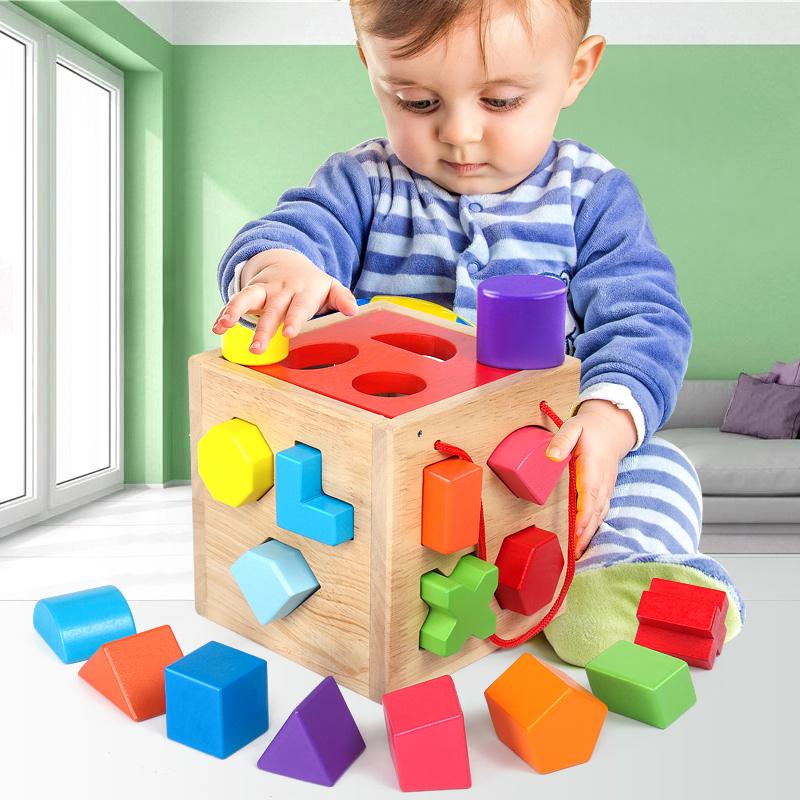 宝宝0-1-2岁3益智力开发木头积木券后39.00元