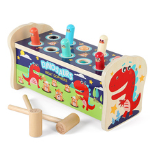 Wooden hamster toys 0 toddlers Yizhi babies 1-2 and a half years old 3 boys, girls and babies tapping the trumpet