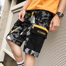 Men's Shorts Summer Korean Trend Tools Loose and Thin Seven-cent Beach Leisure Camouflage Five-cent Pants Trend Brand