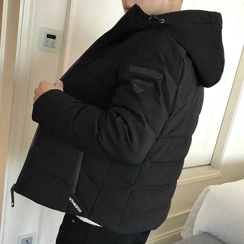 男士羽绒服中长款韩版2018新款长款冬季短款青年男款帅气男装外套
