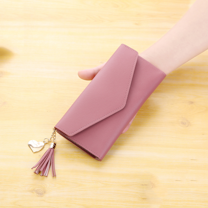 New wallet womens long simple and versatile student Korean zipper small, ultra-thin and large capacity handbag