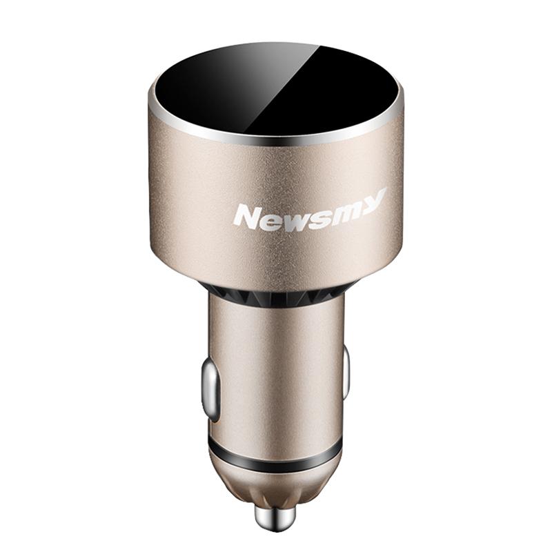 紐曼C58藍牙車載mp3播放器FM發射手機藍牙免提通話汽車點煙器充電