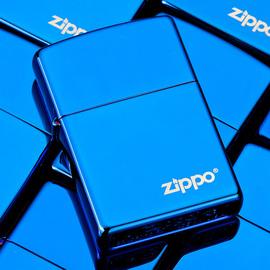 打火机zippo正版蓝冰黑冰定制刻字创意限量防风正品zppo煤油男士