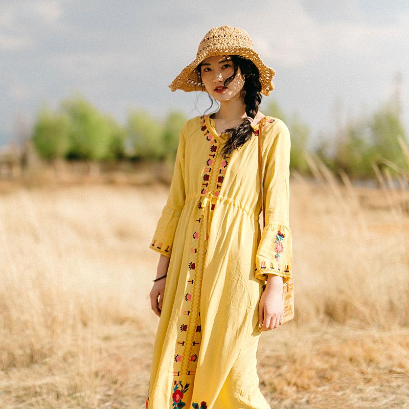 新款云南旅游闺蜜很仙的度假连衣裙