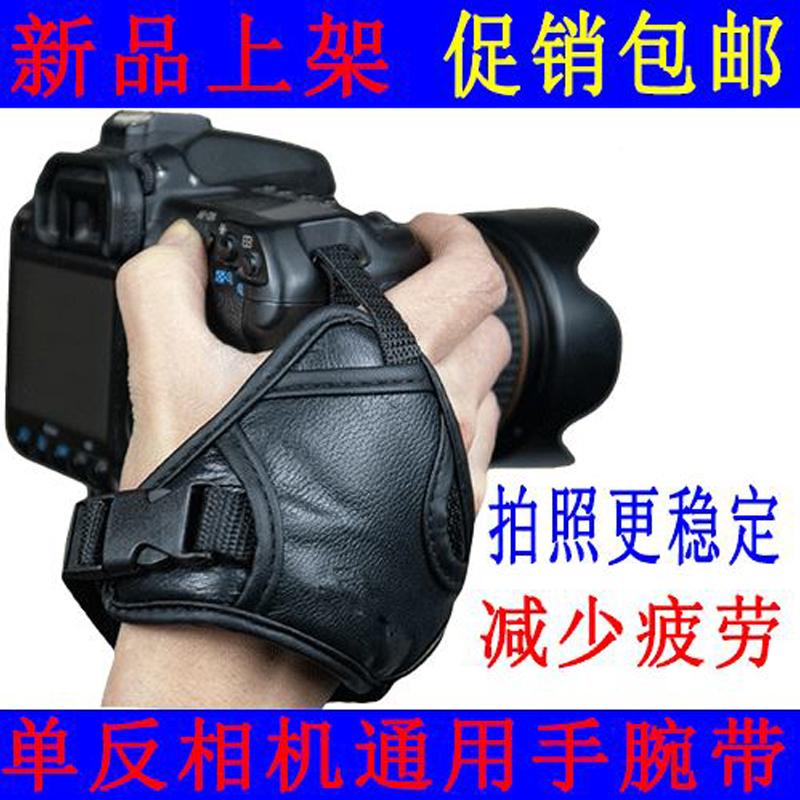 单反微单相机手带相机配件 适用佳能尼康索尼宾得 皮腕带 手腕带