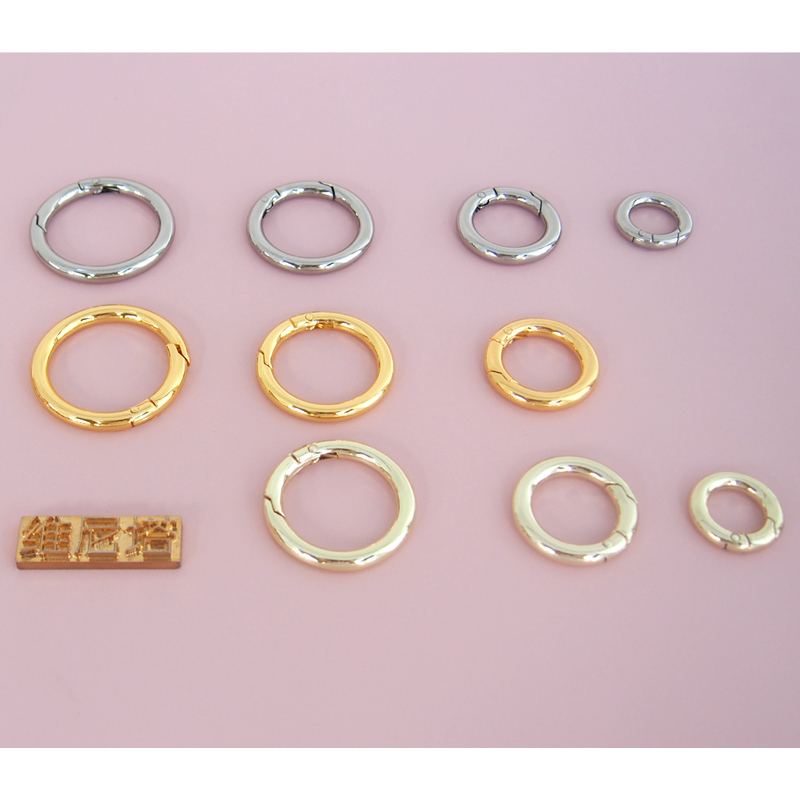 Package accessories ring opening ring spring opening ring DIY accessories metal ring hanging ring connection ring key ring circle