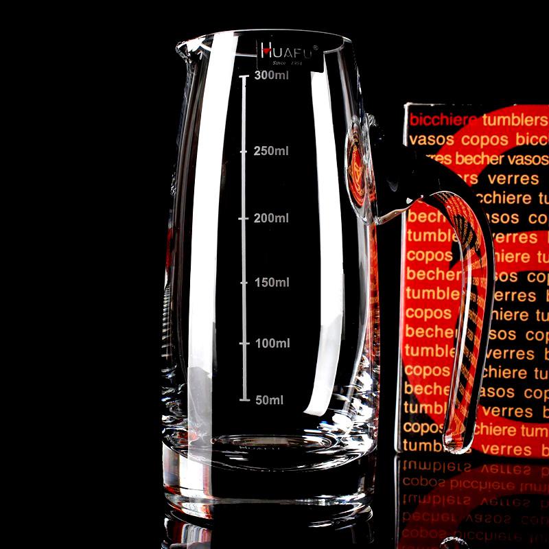 包郵白酒分酒器紅酒醒酒器洋酒公杯無鉛水晶玻璃量杯帶刻度酒瓶