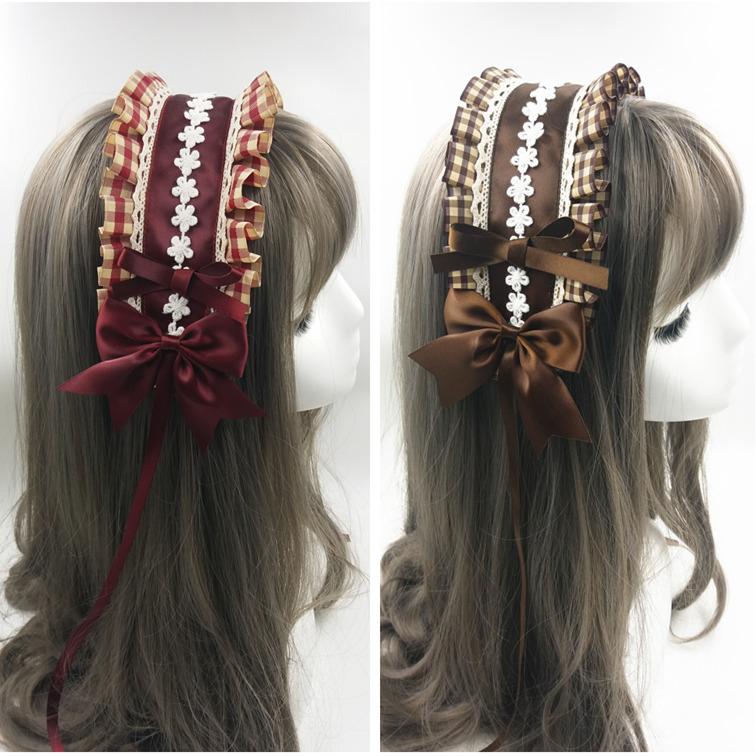 Original Lolita Lolita sweet soft sister hair band two-dimensional pastoral style maid hair jewelry headdress hairpin