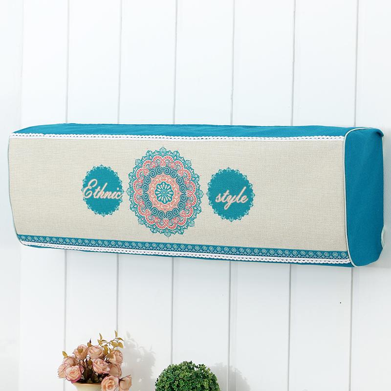 棉麻格力挂式卡通布艺全包空调套加厚挂机空调罩美的室内挂机海尔