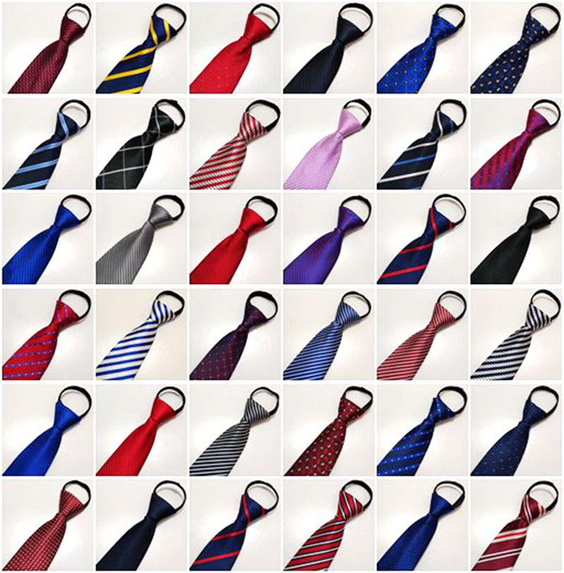 男士领带条纹8cm商务正装结婚学生百搭韩版休闲工作蓝色拉链领带