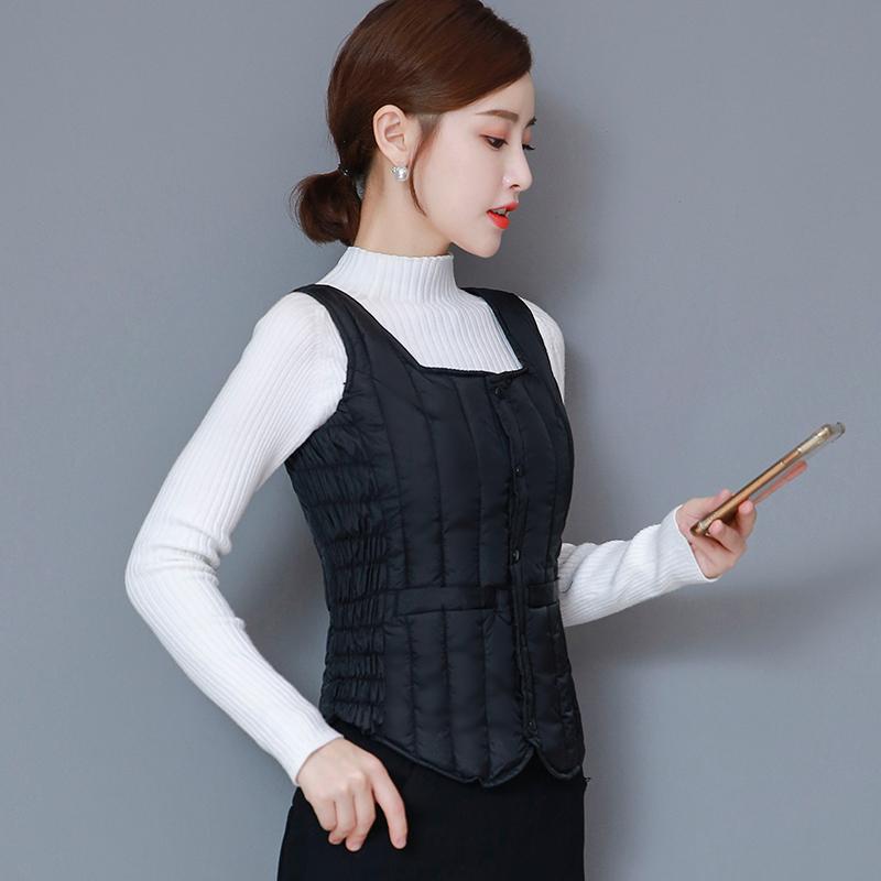 2020新款中老年女士羽絨棉馬甲短款秋冬小馬夾韓版加厚保暖衣背心