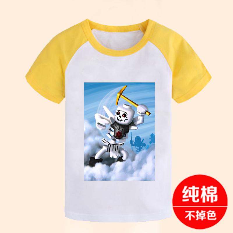 乐高幻影忍者童装 LEGO NINJAGO儿童短袖T恤纯棉衣服女男童青少年