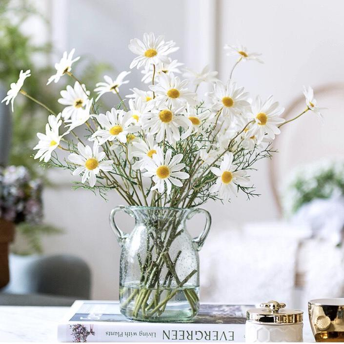 Home Daisy, chamomile, gerbera, cosmos, chrysanthemum, artificial silk flower, living room, dining room flower