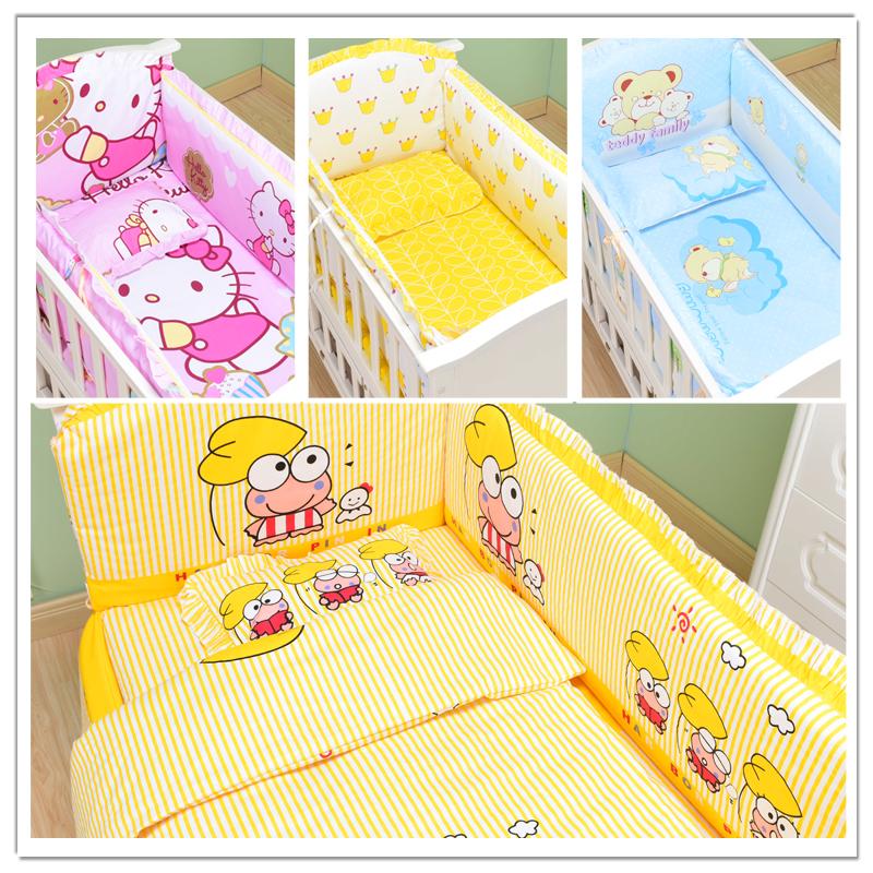 Кровать для младенца окружать кровать для младенца использование комплекты продуктов штук чистый хлопок хлопок съемный ребенок постельные принадлежности три и четыре пять семь частей