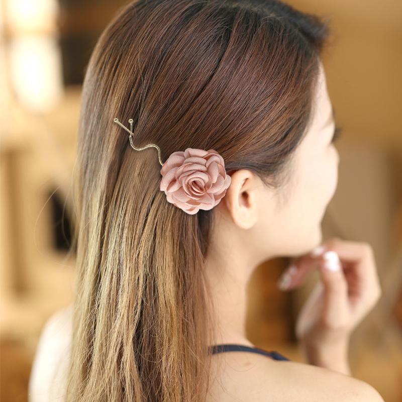 韩版成人花朵发夹子甜美一字夹边夹鸭嘴夹发卡刘海夹发饰品D0551